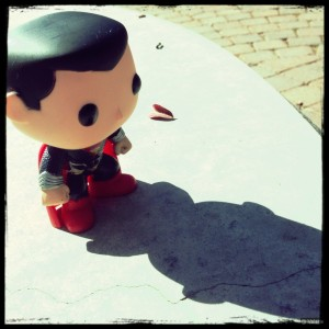 little man of steel and his shadow
